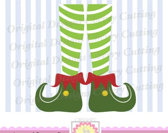 Elf shoes, Christmas Elf SVG, Elf feet Silhouette Cut Files, Cricut Cut Files CHSVG01 -Personal and Commercial Use