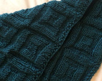 Block Blanket Knitting Pattern, PDF,