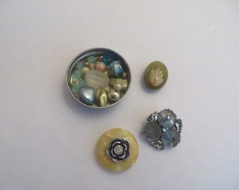 Vintage Repurposed Jewelry Magnets Set of 4