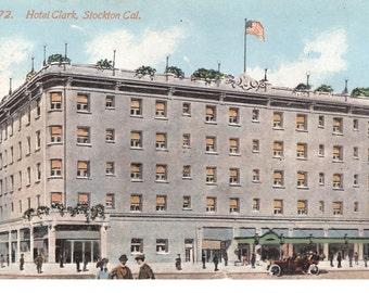Vintage Postcard...California, Stockton- Hotel Clark..Unused...no. CA0005