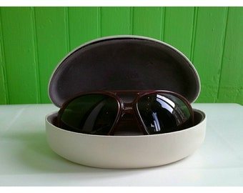 Classic Vintage Jean Paul Gaultier 1980s Oversized Round Sunglasses and Case