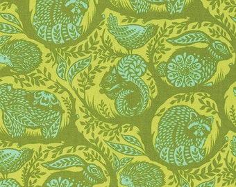 Slow & Steady by Tula Pink for Free Spirit - Grandstand - Strawberry Kiwi - Cotton Quilt Fabric