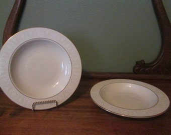2 Lenox Courtyard Gold From the American Home Collection Soup Bowls, New in Bags. Never Used.