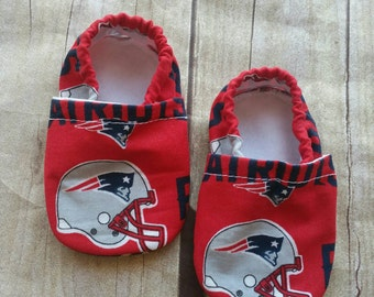 New England Patriots Cloth Baby Booties 0-6 SHIP TODAY