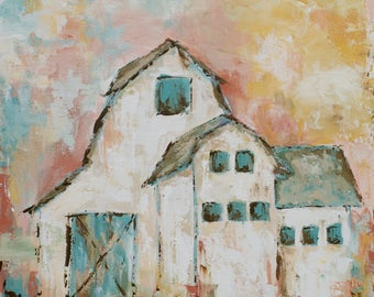 Barn Art Print | Country Barn | Barn |  8x8|12x12|16x16