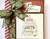 Christmas Scrapbook Album Kit or Premade Scrapbook Album