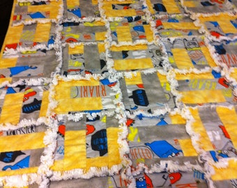 NEW! Small Monster Rag Quilt