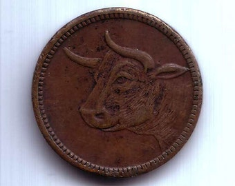 Steer Eye This Token No Cash or Trade Value token 20 mm brass