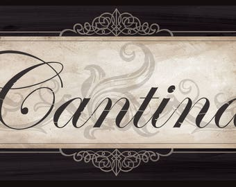 Cantina Sign, Italian Kitchen and Dining Decor, 2 sizes available