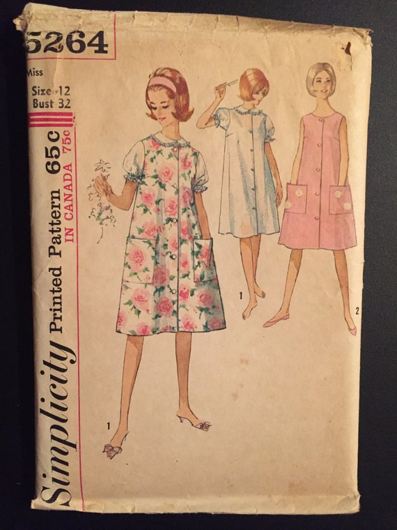 Simplicity Sewing Pattern 5264 Misses Nightgown and Duster or Sleeveless Dress Size 12