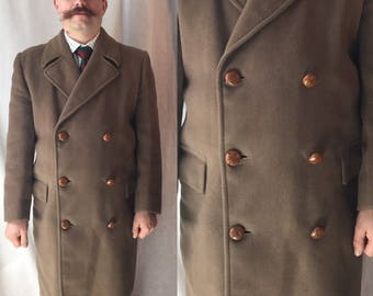 1930s double breasted overcoat