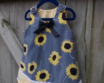 3T Toddler Vintage Sunflower Romper  *shirt not included