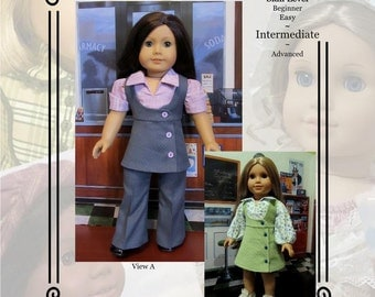 "PDF Pattern KDD16 ""Study Hall"" -An Original KeepersDollyDuds Design, makes 18"" Doll Clothes"