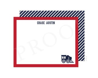 Personalized train etsy personalized train note cards train birthday train thank you cards printable train note negle Gallery