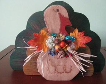 Turkey-- Thanksgiving-- Hostess Gift-- Fall-- Decoration--Centerpiece-- Fall Decor-- 3-D--Centerpiece