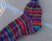 Purple Blue Rainbow Socks size 5/6 or 38/39