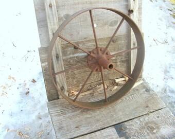 Cold iron wheelbarrow wheel
