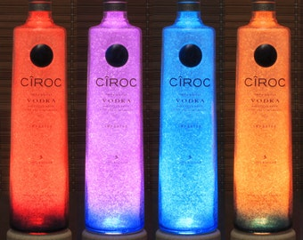 Ciroc Snap Frost Vodka Color Changing LED Remote Controlled Eco Friendly rgb LED Bottle Lamp Party Light French Vodka Valentines Day