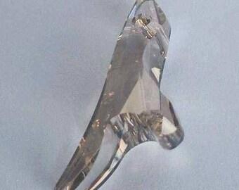 1 SWAROVSKI 6791 Coral Pendant Beads 34mm SILVER SHADE
