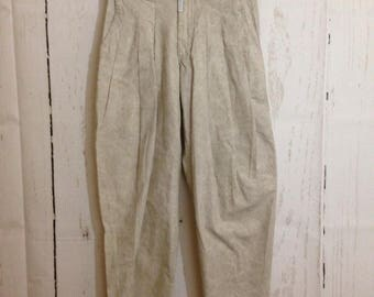 Vintage Z Cavaricci Pants Khakis - 80s 90s Cotton Trousers - High Waist - Size XS/S - NOS
