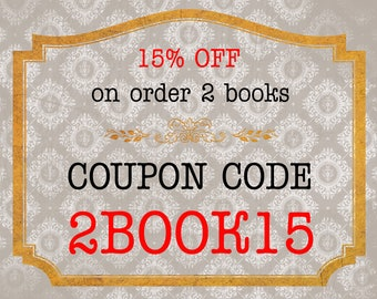 SALE! Mini Leather Book 15% OFF on order 2 leather books! Use coupon code 2BOOK15 (Please Do NOT Purchase This Listing)