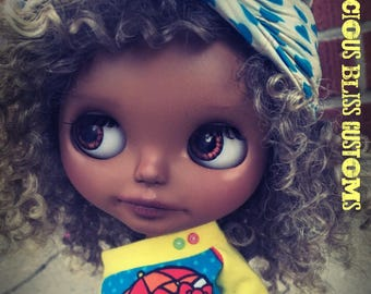 "Harper, One Of A Kind Beautiful Brown Blythe, Custom Takara Neo ""Check It Out"""