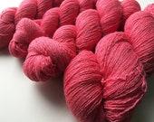 Reclaimed Lace Yarn - Merino/Rayon/Angora/Cashmere - Watermelon