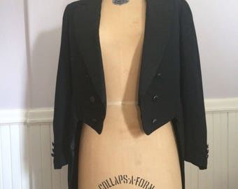 Men's Vintage Clothing / Vintage Mens 1930's Tux Tails  Hand Tailored / Unisex