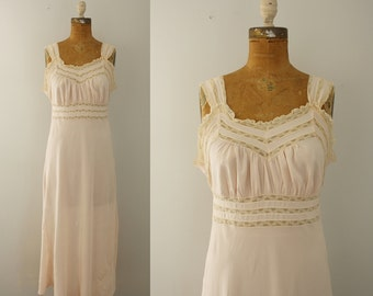 1940s nightgown | vintage 40s rayon gown