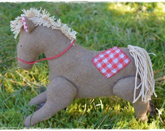 Small stuffed horse - cute horse doll named Blaze toy - birthday gift for girl or boy
