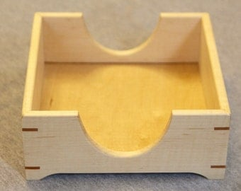 Napkin Holder Handmade out of Solid Curly Maple - Free Shipping to USA