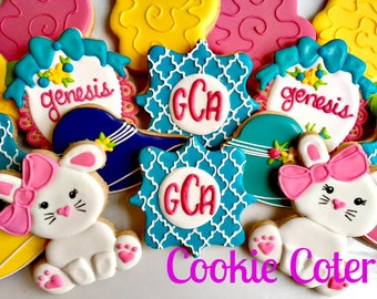 Somebunny Special Tea Party Baby Shower Birthday Party Decorated Cookie Favors One Dozen