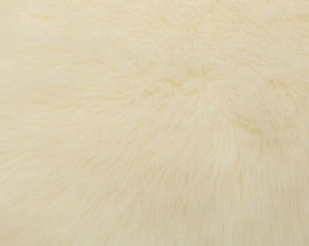 Fun Monkey Fur Ivory 60 Inches Fabric by the Yard, 1 yard