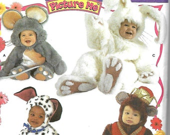 Simplicity 4001 Toddler Costume Sewing Pattern, Picture Me, Mouse, Rabbit, Dalmation & Monkey, Size 1/2 - 4, UNCUT