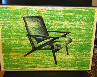 Green Chair Screen Print (UNFRAMED)