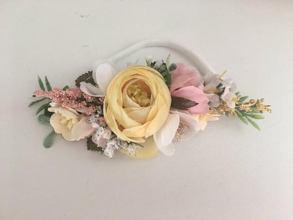 Pastel floral headband -floral headband- Flower crown- Well dressed wolf- Floral crown- Bridal Crown- Flower Girl- Spring Wedding- Dollcake