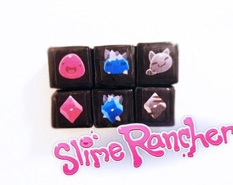 Slime Rancher magnets set of 6-steam game cute indie game