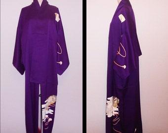 Vintage kimono - Fubako, Hand-painting