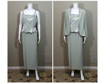 MONTAGE by Mon Cheri Special Occasion Dress Light Green Size 10