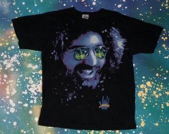 1990s JERRY GARCIA Grateful Dead Hippie T-Shirt Size L