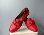 Red Flats / Vtg 50s / Red...