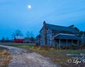 Old farm night photo