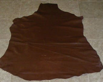 PJZ8163-6) Hide of Finished Brown Lambskin Leather Skin