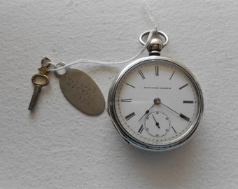 1888 Elgin Gilt Coin Silver Size 18 Pocket Watch Keeps accurate time.