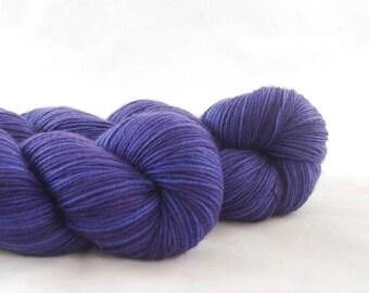 Hand Dyed Merino / Nylon Sock Yarn Purple