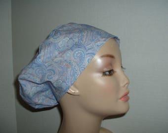 Summer Paisley Lavender Pink Euro European OR Scrub Hat