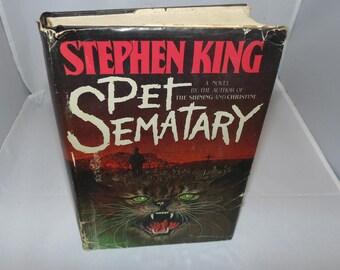 Vintage Pet Sematary Book by Stephen King 1983 BCE Book Club Ed HCDJ
