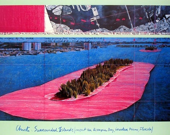 Javacheff Christo-Surrounded Islands (1982)-1983 Poster