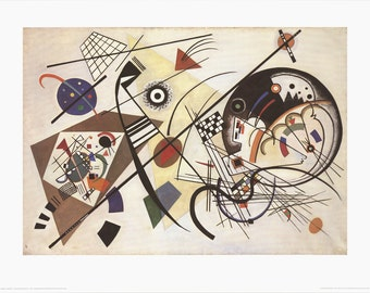 Wassily Kandinsky-Transverse Line (no text)-1986 Poster