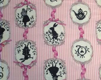Alice in Wonderland Lecien Japanese Fabric Pink / Japanese Fabric - 110cm x 50cm